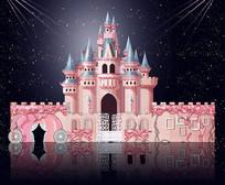 童话城堡主题设计背景板