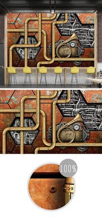 金属机械风铁皮金属背景墙