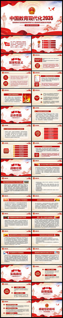 学习解读2035中国教育现代化PPT