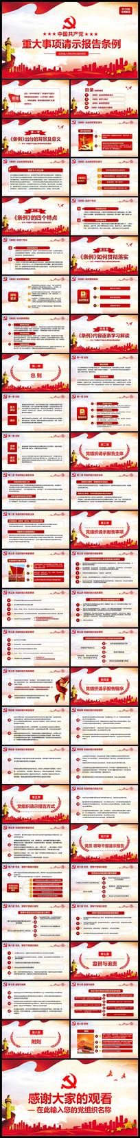 学习中国共产党重大事项请示报告条例PPT
