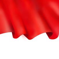 原创元素红色丝绸帷幕