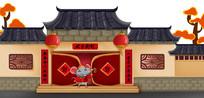 中國古建筑原創手繪