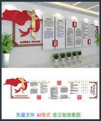 党建党员活动室文化墙设计