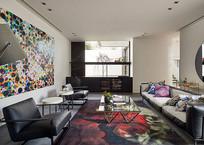 多彩图案客厅