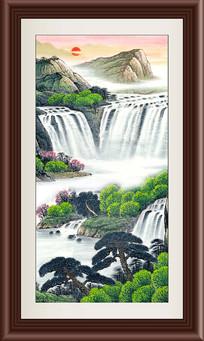 风景画山水竖幅装饰画