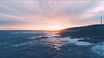 海景海浪航拍视频素材