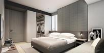灰色加白色卧室设计