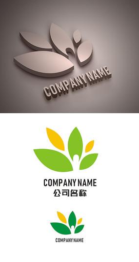 绿叶标志LOGO设计