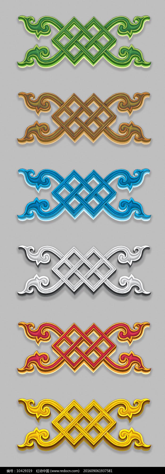 蒙古图案设计图片