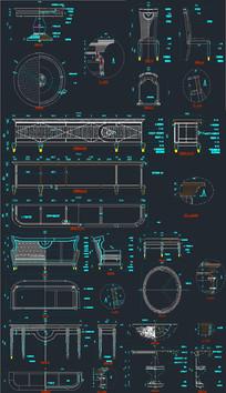 欧式客厅家具CAD