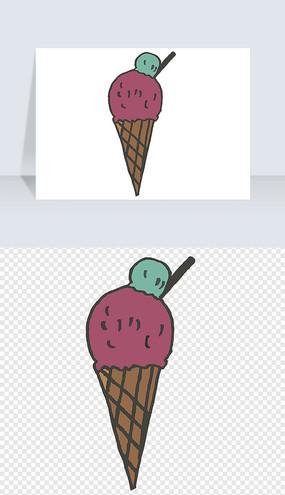夏季手绘冰淇淋PNG