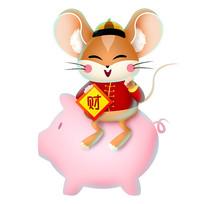 新年卡通老鼠造型