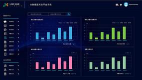 信息图表大数据可视化UI设计 PSD
