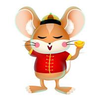 卡通新年老鼠原创手绘稿