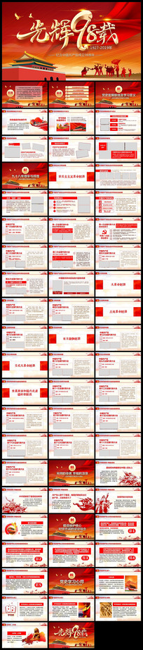 中国共产党党史建党98周年党课PPT