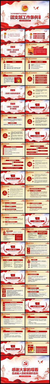 中国共产主义青年团支部工作条例PPT
