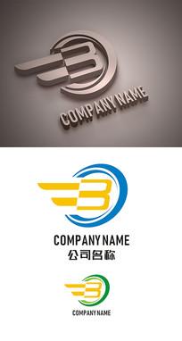 字母B标志LOGO设计 CDR