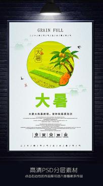 二十四节气之大暑宣传海报