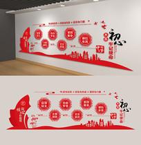 中国风24字核心价值观党建文化墙