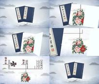 中国风穿梭进入本草纲目物品介绍图文视频模板