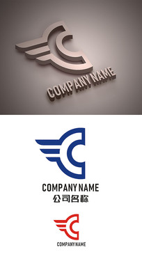 字母C标志LOGO设计 CDR
