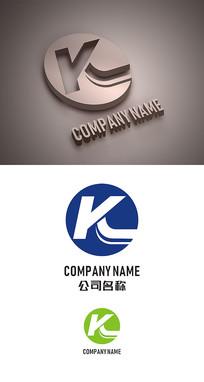 字母K标志LOGO设计