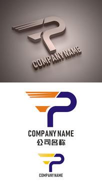 字母P标志LOGO设计 CDR