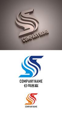 字母S标志LOGO设计