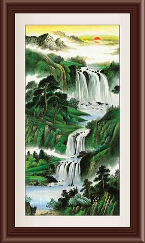 国画山水装饰画