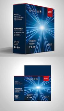 炫酷科技风电子包装彩盒设计 PSD