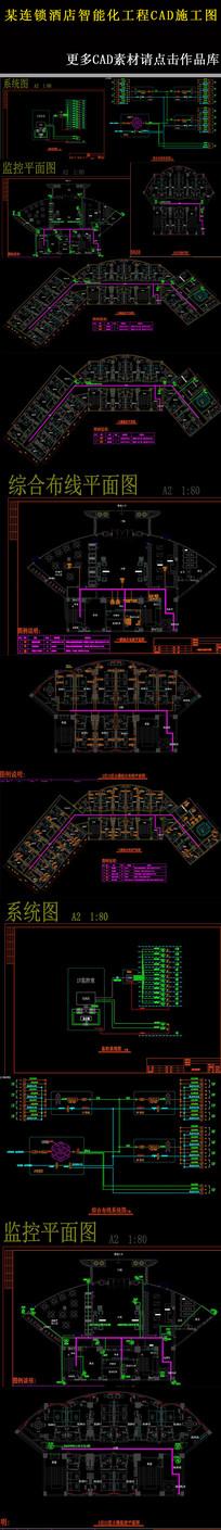 某连锁酒店智能化工程CAD施工图