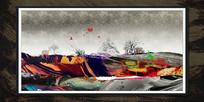 纹理新中式创意油画