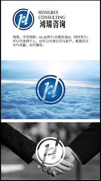 HR创意字母原创企业logo