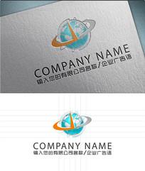 地球标志logo设计 AI