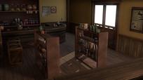 C4D复古酒吧模型