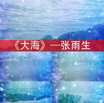 大海张雨生歌曲配乐视频素材