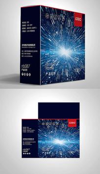 动感光纤电子包装彩盒设计 PSD