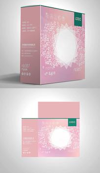 粉色清新大气花朵包装盒设计
