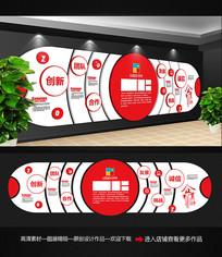 红色企业文化墙