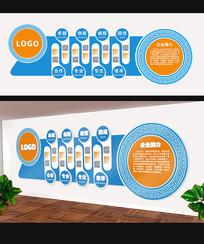简约企业文化墙设计