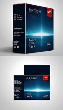 炫酷人工智能科技包装彩盒设计 PSD