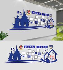 我的警营我的家警营照片墙设计