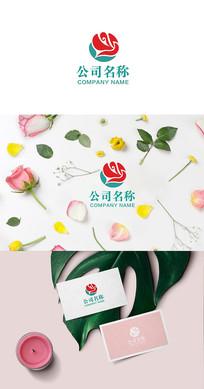 鲜花logo设计