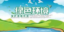 保护环境背景板