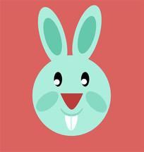 卡通兔子头像设计