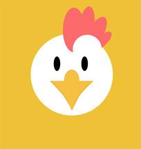 卡通小鸡头像设计