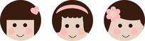 卡通小女孩人物头像设计 AI