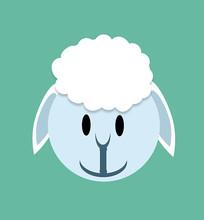 卡通小羊头像设计