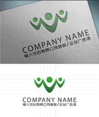 三人行logo标志设计