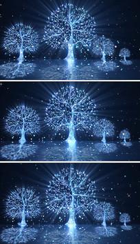 生命树舞蹈晚会背景视频素材